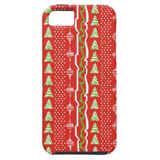 クリスマスツリーパターン iPhone SE/5/5s ケース