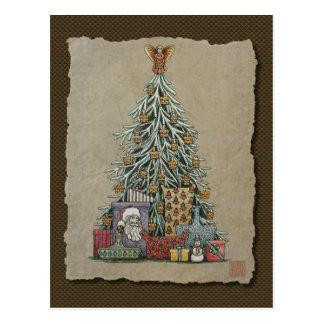 クリスマスツリー及びプレゼント ポストカード
