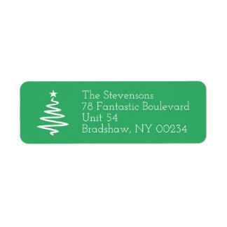 クリスマスツリー家族の休日の差出人住所 ラベル