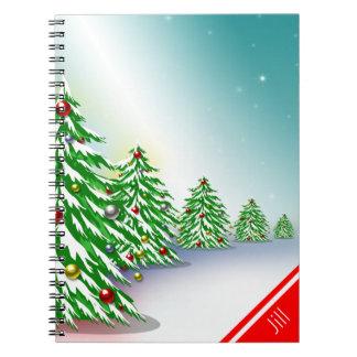 クリスマスツリー80のページのノート ノートブック