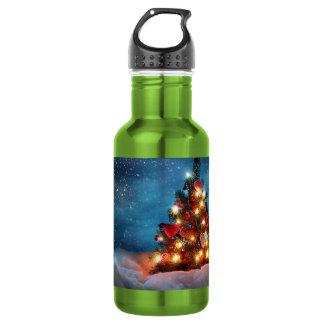 クリスマスツリー-クリスマスの装飾-雪片 ウォーターボトル