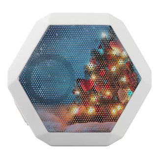 クリスマスツリー-クリスマスの装飾-雪片 ホワイトBluetoothスピーカー