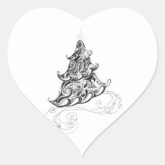 クリスマスツリー ハートシール