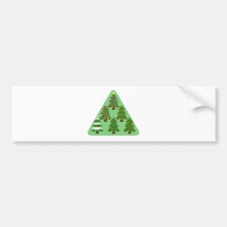 クリスマスツリー バンパーステッカー