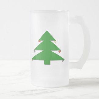 クリスマスツリー フロストグラスビールジョッキ