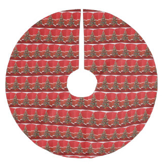 クリスマスツリー ブラッシュドポリエステルツリースカート