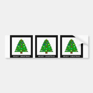 クリスマスツリー(メリークリスマス) バンパーステッカー