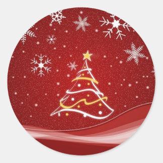 クリスマスツリー ラウンドシール