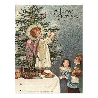 クリスマスツリー-ヴィンテージのクリスマス--を飾ります ポストカード