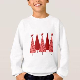 クリスマスツリー-赤いリボンのハート及び打撃 スウェットシャツ