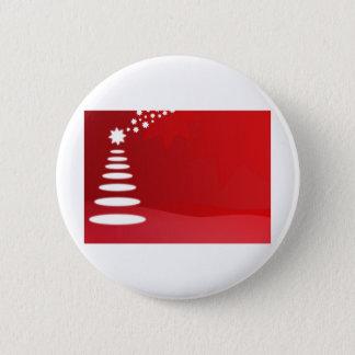 クリスマスツリー 5.7CM 丸型バッジ