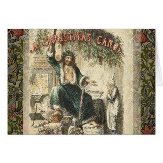 クリスマスプレゼントのヴィンテージのScroogeの幽霊 グリーティングカード
