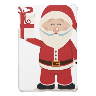 クリスマスプレゼントを握っているかわいいサンタクロース iPad MINIケース