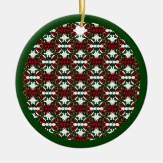 クリスマスプレゼントパターン セラミックオーナメント
