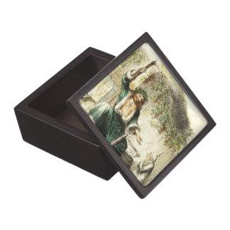 クリスマスプレゼント-ギフト用の箱のScrooge及び精神 ギフトボックス
