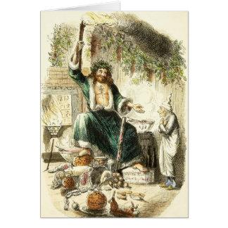クリスマスプレゼント- Cに挨拶することのScrooge及び精神 グリーティングカード