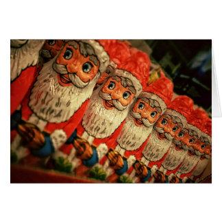 クリスマスホイルのサンタキャンデーの挨拶状 カード
