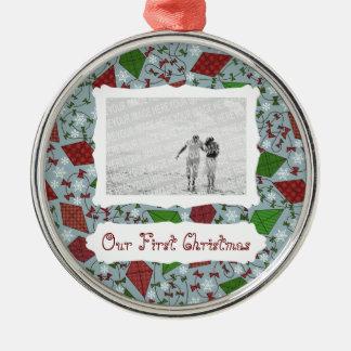 クリスマス凧、優れた写真のオーナメント メタルオーナメント