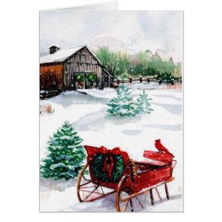 クリスマス場面クリスマスカード カード