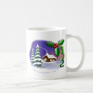 クリスマス場面 コーヒーマグカップ
