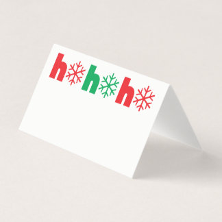 クリスマス夕食の座席表|のHo Ho Ho雪片 カード