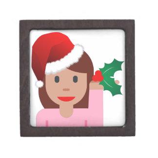 クリスマス情報女の子のemoji ギフトボックス
