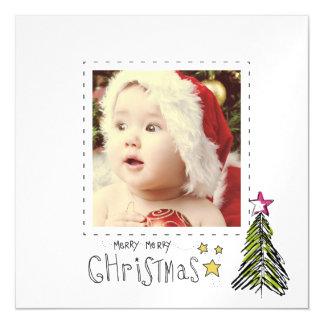 クリスマス愛写真は磁石を薄くします マグネットカード