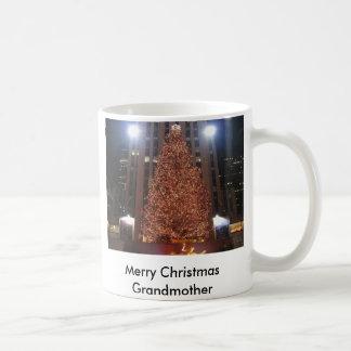 クリスマス木ロックフェラー中心、メリーなキリスト… コーヒーマグカップ