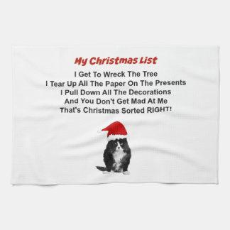クリスマス気難しい猫の台所タオル キッチンタオル