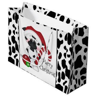 クリスマス牛休日の大きいギフトバッグ ラージペーパーバッグ