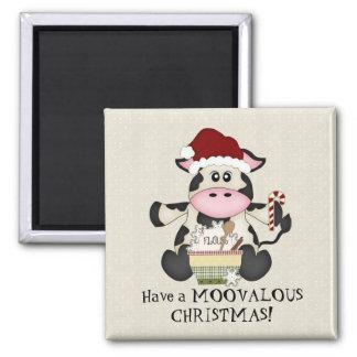 クリスマス牛休日の磁石 マグネット