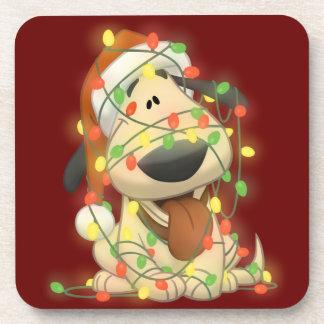 クリスマス犬 コースター
