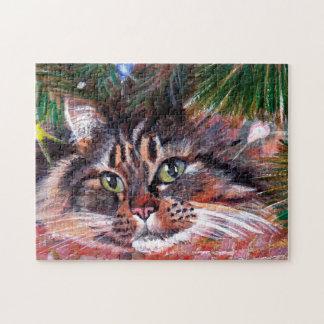 クリスマス猫のパズル ジグソーパズル
