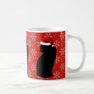 クリスマス猫のマグ コーヒーマグカップ