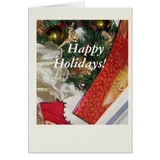 クリスマス猫の覆い カード