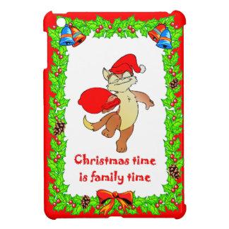 クリスマス猫サンタ iPad MINIケース