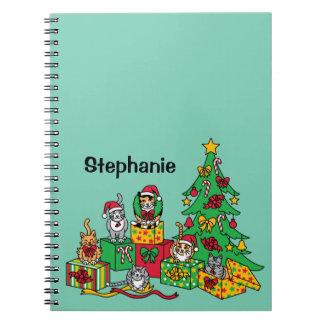 クリスマス猫 ノートブック