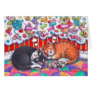 クリスマス猫Notecard #98 カード