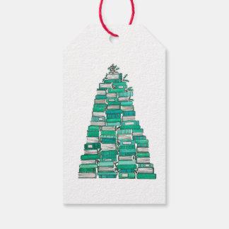 クリスマス用図書の木のギフトのラベル ギフトタグ