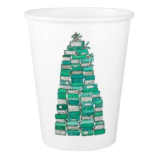 クリスマス用図書の木のコップ 紙コップ