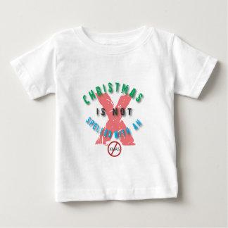クリスマス綴られなかったx.ai ベビーTシャツ