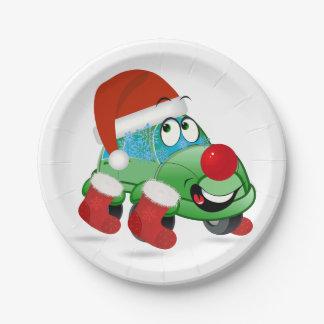 クリスマス車の漫画の紙皿 ペーパープレート