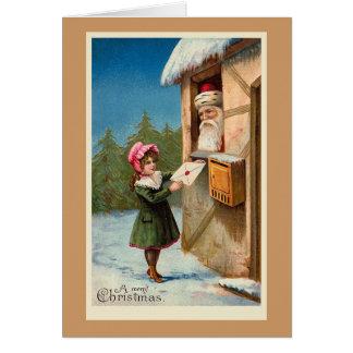 """""""クリスマス郵便""""クリスマスカード カード"""