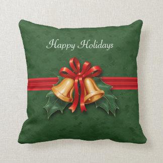 クリスマス鐘およびヒイラギの緑 クッション