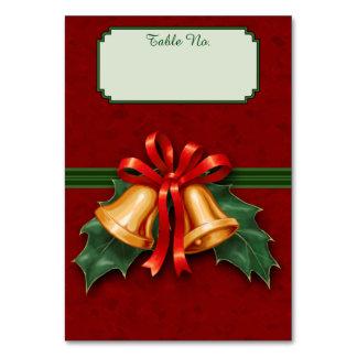 クリスマス鐘および赤いヒイラギの葉 カード