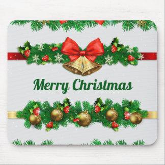 クリスマス鐘およびHollies  のマウスパッド マウスパッド