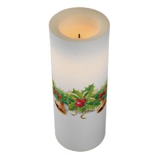 クリスマス鐘の花輪大きいFlameless蝋燭 LEDキャンドル