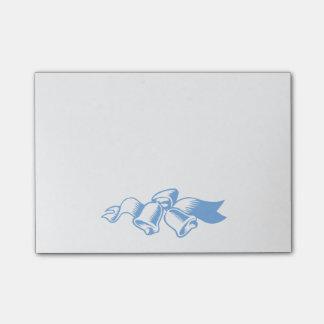 クリスマス鐘の青い付箋 ポストイット