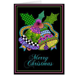 クリスマス鐘は黒をねじります カード