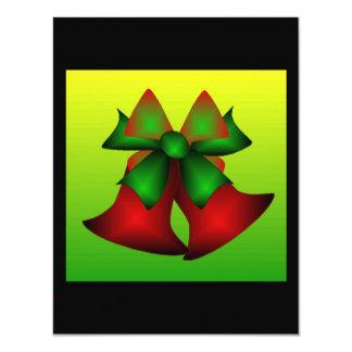 クリスマス鐘 10.8 X 14 インビテーションカード